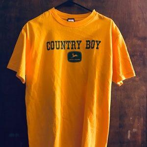 "2 for $10 John deere ""country boy""tshirt"